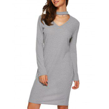Long Sleeve Knitted Bodycon Dress