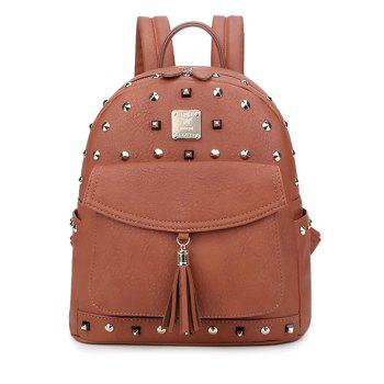 Magnetic Closure Tassels Rivets Backpack