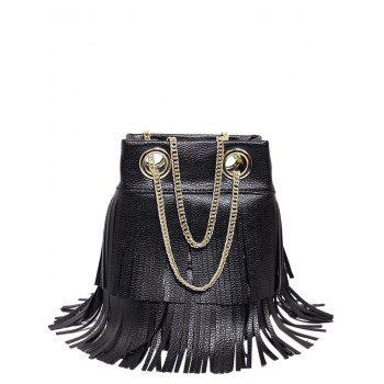 PU Leather Chain Fringe Crossbody Bag