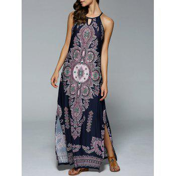 Bohemian Side Slit Tribal Maxi Dress