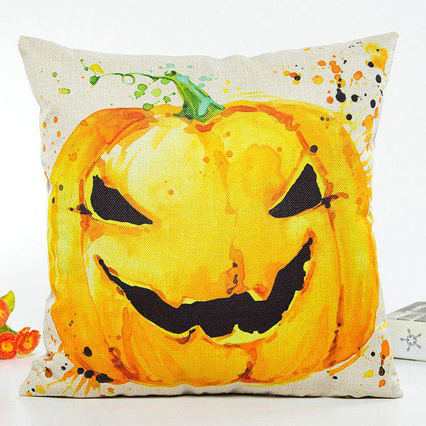 Halloween Pumpkin Pattern Printed Cushion Pillow CaseHome<br><br><br>Color: BEIGE