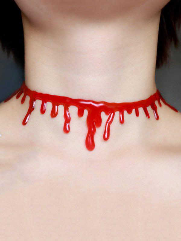 Halloween Blood Choker Necklace - RED
