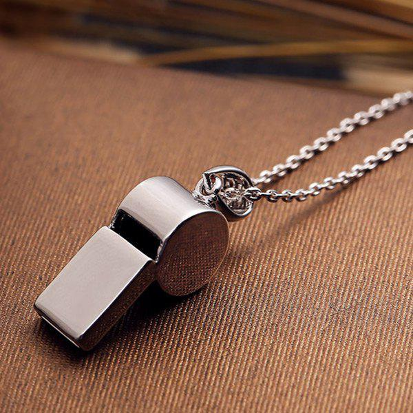 Sport Whistle Necklace - SILVER