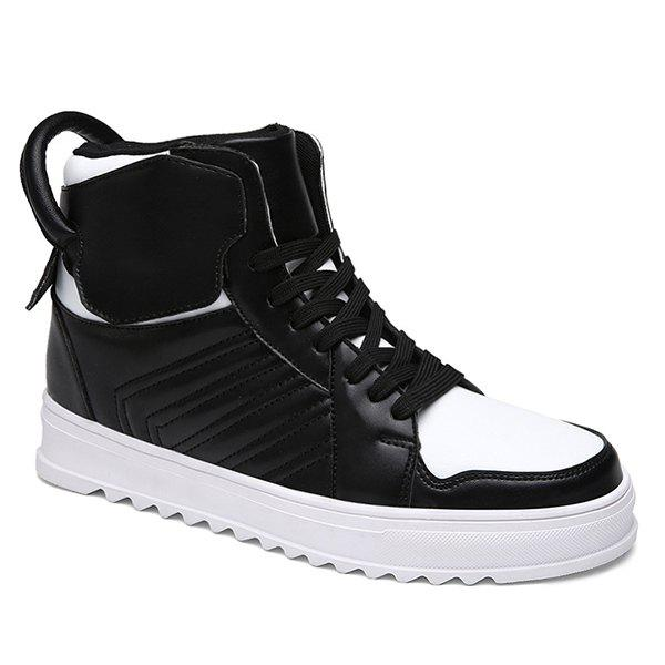 Lace Up Leather High Top Casual Shoes patriot gp 6510le