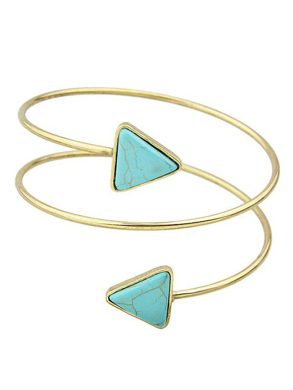 Faux Turquoise Triangle Arm Chain Jewelry - GOLDEN