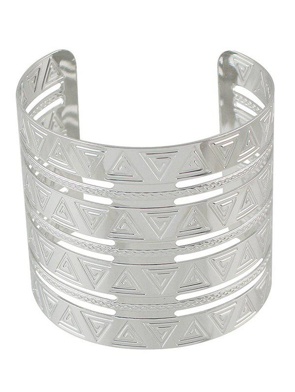 Punk Alloy Engraved Triangle Cuff Bracelet artificial turquoise triangle cuff bracelet