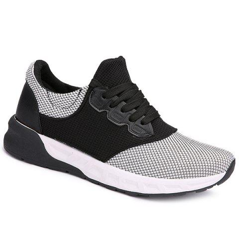 Lace Up Mesh Athletic Shoes - WHITE 42