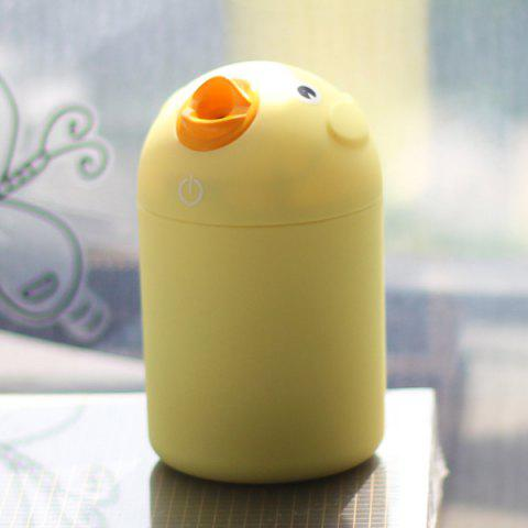 Mute Mini Bird Car Air Purifier USB Ultrasonic Humidifier - YELLOW