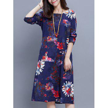 Floral Print Ethnic Style Dress