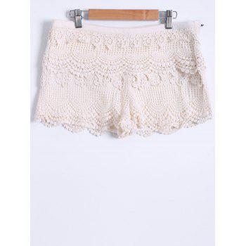 Guipure Tiered Mini Shorts