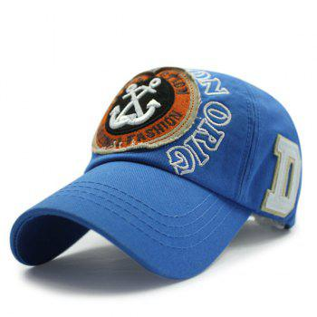 Sunscreen Boat Anchors and Letters Embroidery Baseball Hat