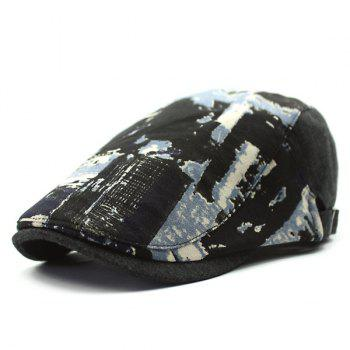 Autumn Scrawl and Letter Print Cabbie Hat