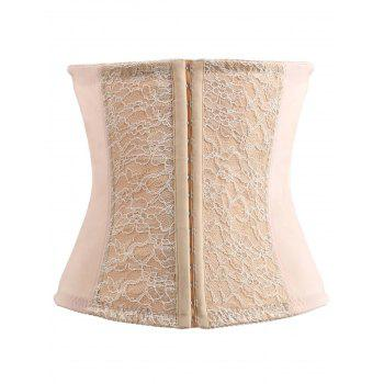 Strapless Buckled Patch Design Corset