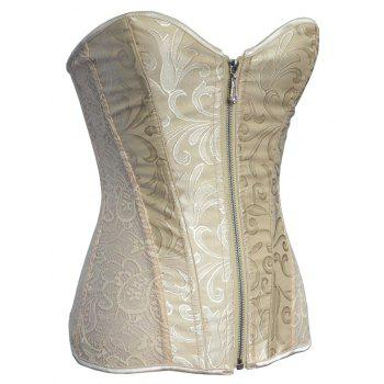 Zippered Push Up Jacquard Corset