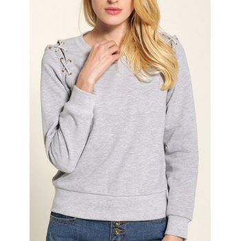 Fit Lace Up Sweatshirt