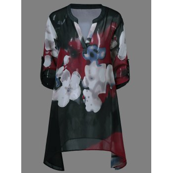 Ink Painting Floral Blouse