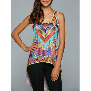 Tribal Printed High Low Bohemian Tank Top