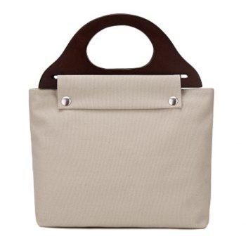 Zipper Canvas Tote Bag