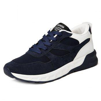 Suede Mesh Spliced Color Block Athletic Shoes