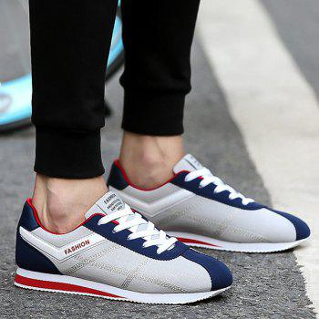 Stitching Color Block Athletic Shoes