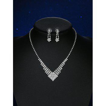 Alloy Geometric Rhinestoned Bridal Jewelry Set