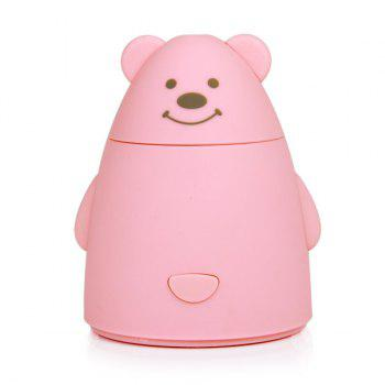 Humidificateur USB Purificateur d'Air en Forme de Mini Ours de Dessin Animé - ROSE PÂLE