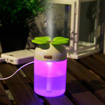 Colorful Lamp Lucky Grass Air Purifier USB Humidifier - GREEN GREEN