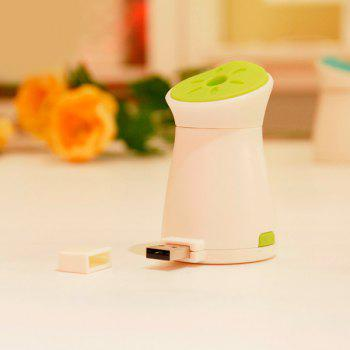 Mute Mini Mosquito Dispeller Car Air Purifier USB Ultrasonic Humidifier - GREEN GREEN