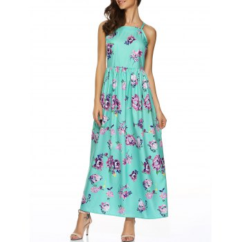 Sweet Flower Printed Maxi Dress