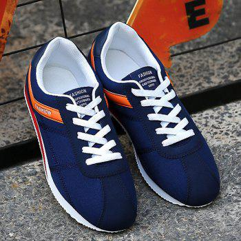 Stitching Color Block Athletic Shoes - DEEP BLUE 40