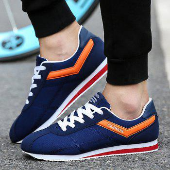 Stitching Color Block Athletic Shoes - DEEP BLUE 42