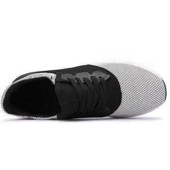Lace Up Mesh Athletic Shoes - WHITE 40