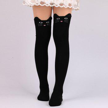 Cartoon Cat Cute Thicken Winter Leg Warmer - BLACK