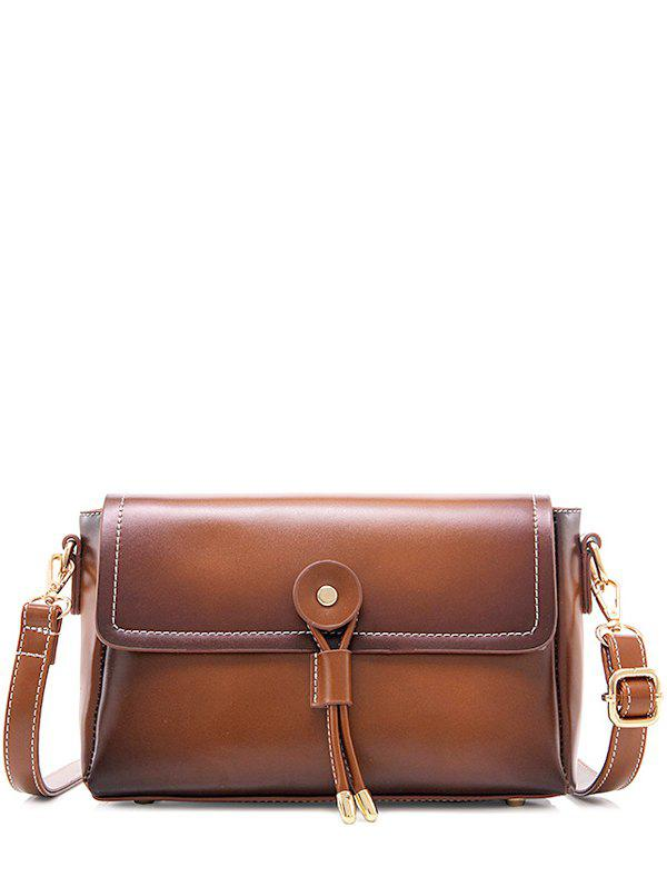 Buy Retro PU Leather Stitching Crossbody Bag BROWN