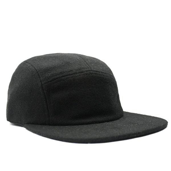 Autumn Adjustable Felt Baseball Hat - BLACK