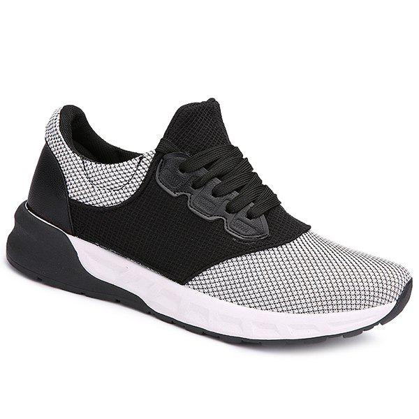 Lace Up Mesh Athletic Shoes - WHITE 44