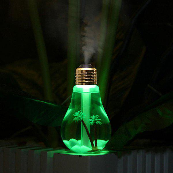 Multi-Color Mute USB Micro Landscape Mini Bulb Shape Fogger Humidifier - GOLDEN