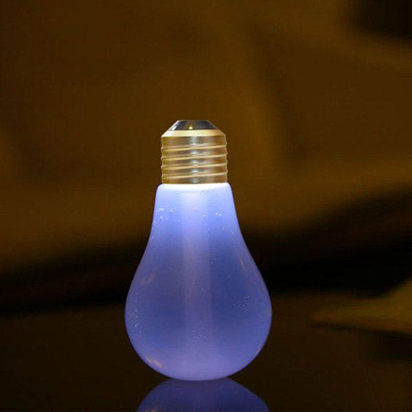 Multi-Color Mute USB Micro Landscape Mini Bulb Shape Fogger Humidifier - TRANSPARENT