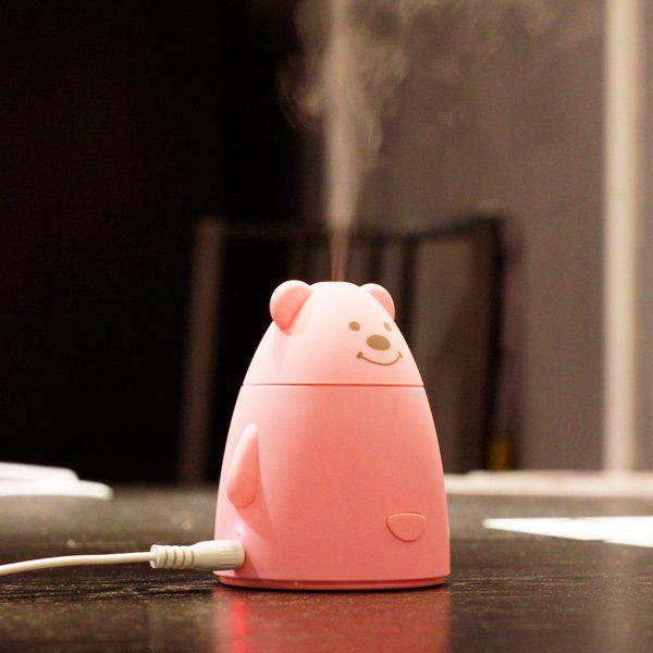 Cartoon Mini Bear Air Purifier USB Humidifier - PINK