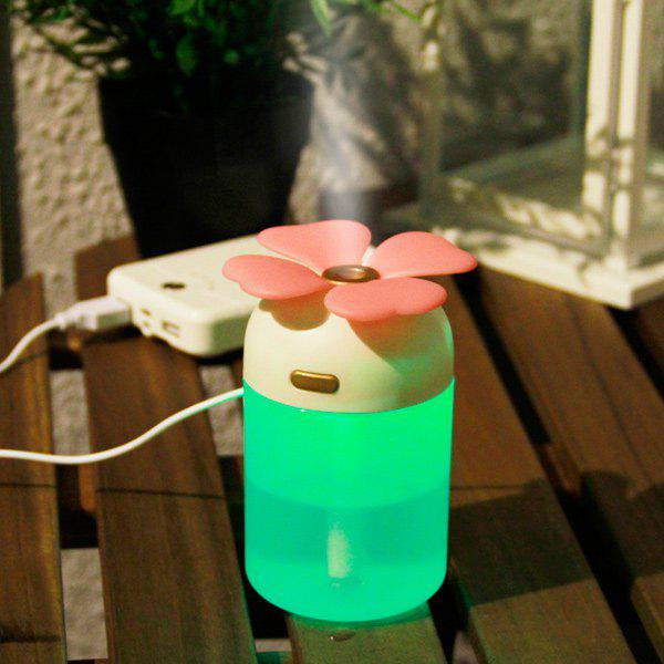 Colorful Lamp Lucky Grass Air Purifier USB Humidifier - PINK