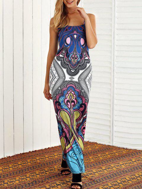 Ouvrir Retour Tribal Print Maxi Dress - multicolore L
