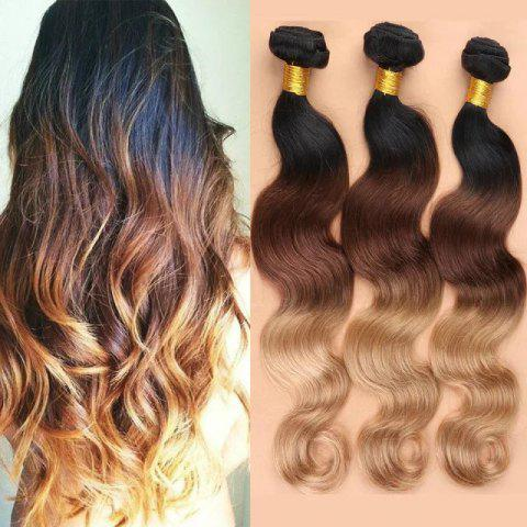 3 Pcs Ombre Color Body Wave 7A Virgin Indian Hair Weaves - COLORMIX 18INCH*20INCH*20INCH