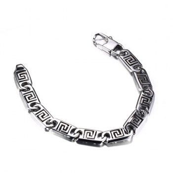 Hollowed Fret Bracelet - SILVER