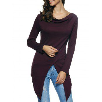 Long Sleeves Asymmetrical T-Shirt
