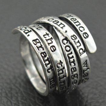 Vintage Engraving Letters Ring