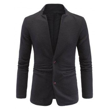 Long Sleeve Elbow Patch Ribbed Blazer