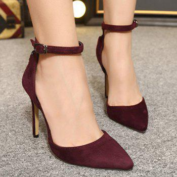 Criss-Cross Suede Two-Piece Pumps