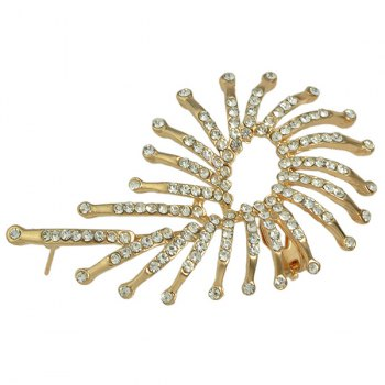 ONE PIECE Rhinestone Alloy Embellished Ear Cuff - GOLDEN