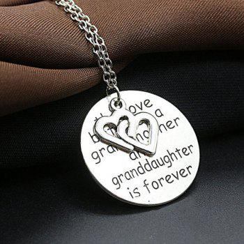Double Heart Engraved Love Forever Necklace
