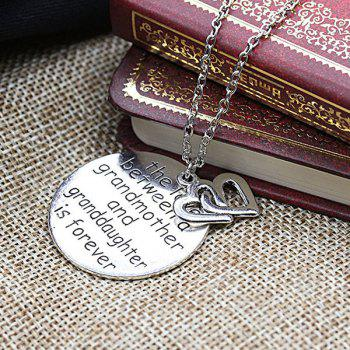 Double Heart Engraved Love Forever Necklace - SILVER